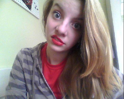 red lipstick i love you