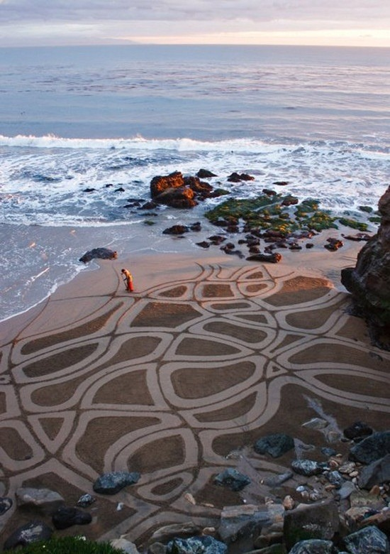 Beach Sand Drawings