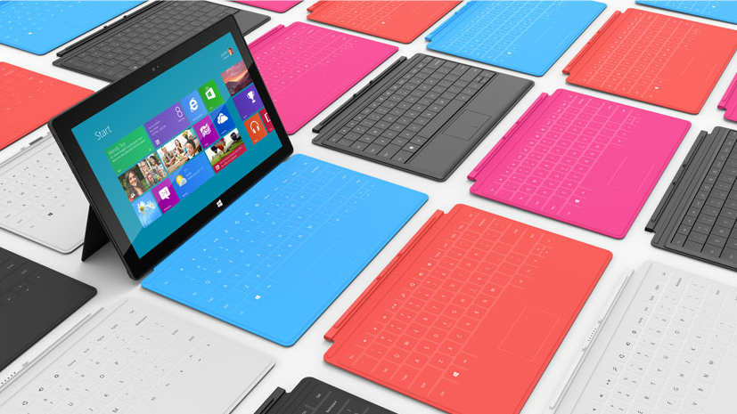 surplus-mag:  Microsoft Surface Microsoft finally announced their tablet yesterday, Surface. The promo video is incredibly intriguing, and we like the idea of a built-in keyboard and stand. We're looking forward to giving it a test drive when it releases. If nothing else, we love that the name is pretty similar to our favorite mediocre website.  Interesting… what do you think?
