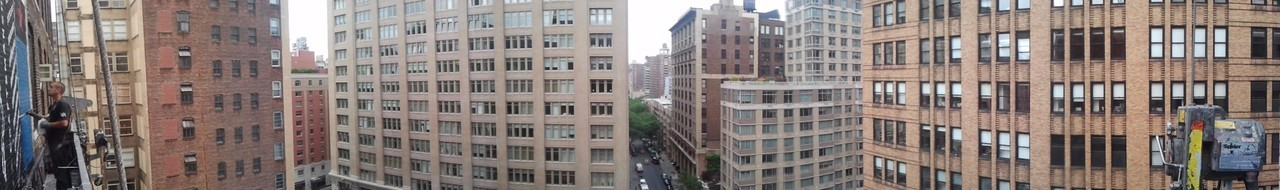 The view from our wall on 25th & 7th