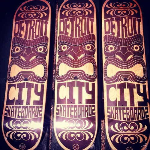 detroitcityskateboards:  Introducing The DCS x @_andrewstencil Tiki Deck Series now available. Comes in sizes 7.75, 8.0, 8.25, 8.5. So if your in need then pick up a fresh deck for Go Skateboarding Day. #Tiki #Skateboarding #DetroitCitySkateboards #GoSkateboardingDay #Locals #Michigan #Detroit #MichiganSkateboarding (Taken with Instagram)