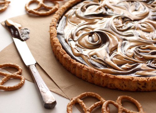 haygirlhay:  graceinplace:  chocolate covered peanut butter pretzel tart i need this in my life. right now.  You and me both sister whoaaaaaaaaaaaaaaaaaaaaaaaaaaaaaaaaaaa  Noted.