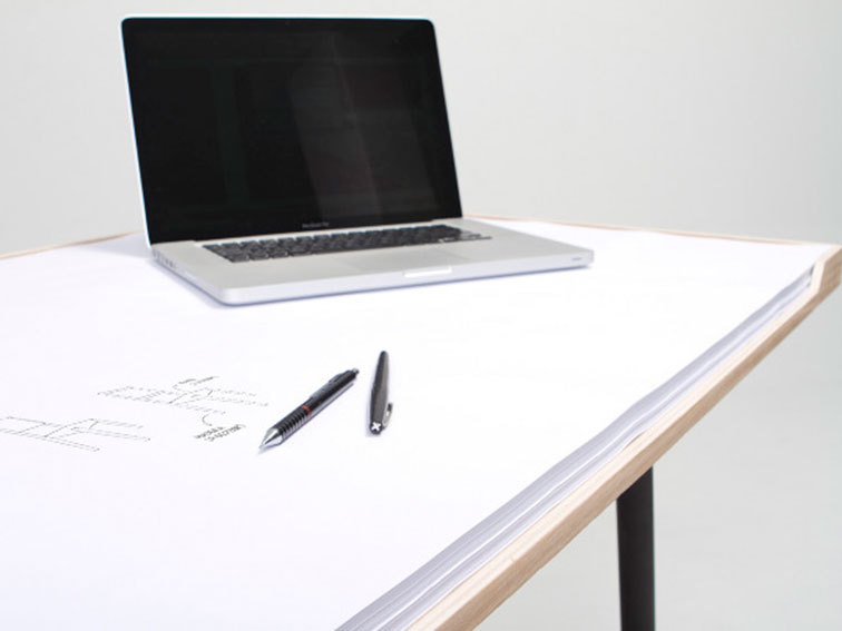 surplus-mag:  Notepad Desk For anyone who can't stop doodling, we love this desk design. Made of plywood and 100x70cm surface area of paper, there's nothing to get in the way of your creativity.  Very cool post from one of our supported blogs.