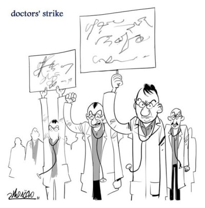 peterpayne:   	Doctors on strike. This made me laugh.