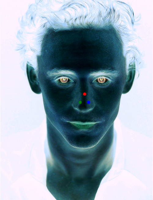itshiddles:   1. Stare at the red dot for 30 seconds. 2. Look at a white wall or blank surface and blink. 3. Enjoy.  I DID NOT NEED THIS IN MY LIFE  SCREAMS I TRIED TO ESCAPE BUT I COULDNT