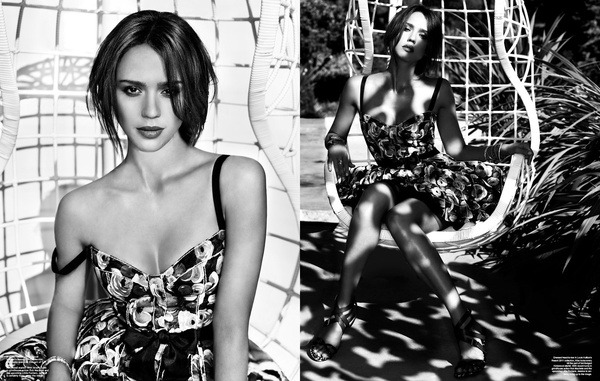 Jessica Alba for Harper's BAZAAR shot by Giuliano Bekor