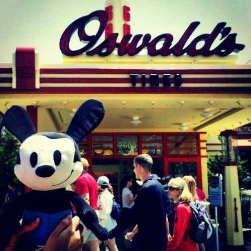 Oswald's first time seeing his very own shop! o(≧▽≦)o  (Taken with Instagram at Buena Vista Street)