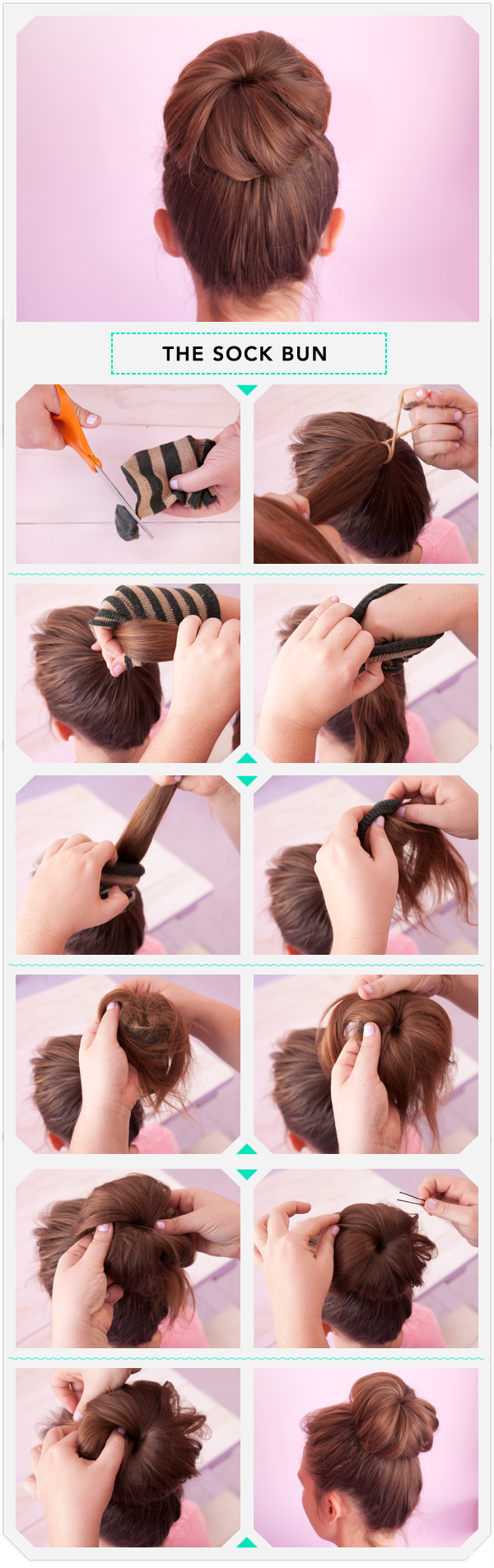 How To: The Sock Bun - Gonna have to try this, looks so easy!