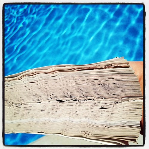 This is what happens when you read at the pool (Taken with Instagram)