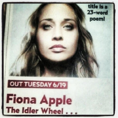 Can't wait for this! #FionaApple  (Taken with Instagram)