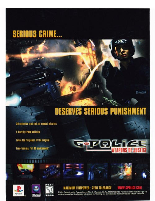G-Police: Weapons of Justice advert.