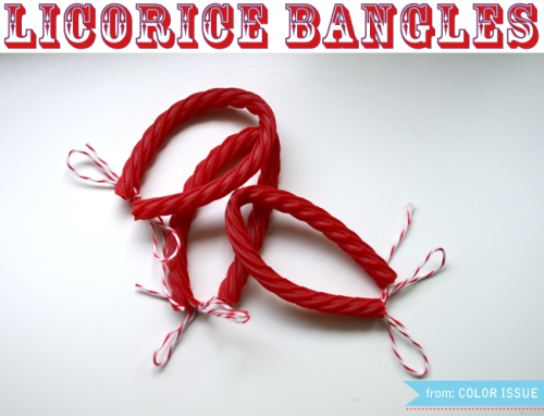 DIY licorice bangles via The Color Issue