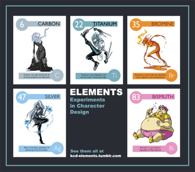 """Elements - Experiments in Character Design"" Please go to the official page to see all the elements! 2011-2012"
