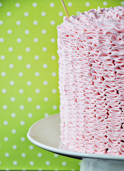 strawberry champagne ruffle cake click here for recipe