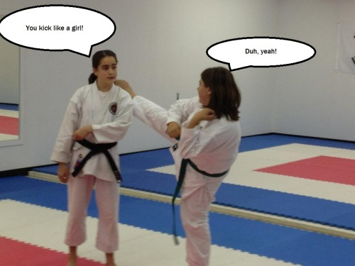 Girls & karate.
