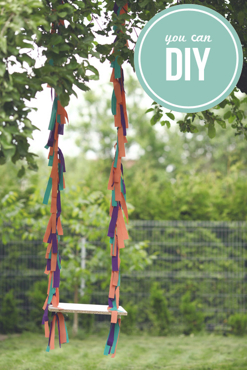 DIY colorful swing via Sausage Jar