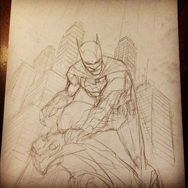 rurounidrew:  francismanapul:  Started today off with a piece for CBLDF (Taken with Instagram)  Fun Fact: I LOVE sketches.