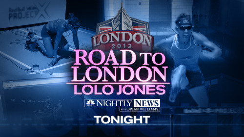 Coming up tonight: Lolo Jones has overcome some of life's biggest hurdles and has represented the U.S. on the Olympic track. Tonight, the first look inside her high-tech training.