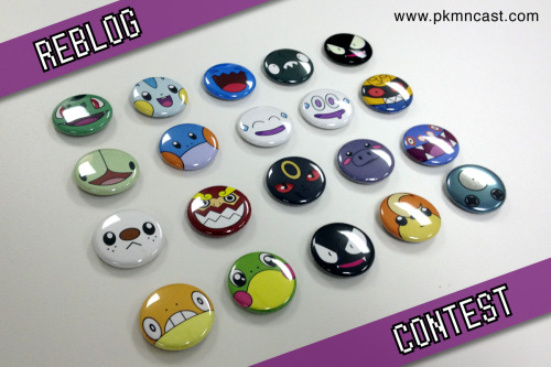 diglettcave:  Reblog Contest! Win a TON of Pokémon buttons (all buttons shown above) Multiple Winners!  Contest Goes to June 25th till Midnight Central Time.  Rules: • Reblog as many times as you want, but we only count 1 a day. Sorry, no likes.  (If you Reblog everyday that can get you 6 entries)  • You can live anywhere in world to enter. We ship globally.  • No cost to enter.  • Rules are subject to change.  Happy Rebloggin! Also - follow us on Twitter Update for those asking. One Gastly is normal, the other one glows in the dark. Also, the Magnemite is super shiny.