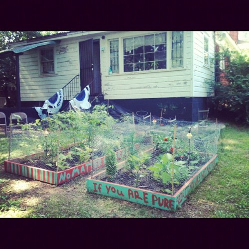 Home sweet home. #atl #home #garden #love (Taken with Instagram at The joint)