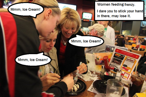 Women & Ice Cream you may get injured.
