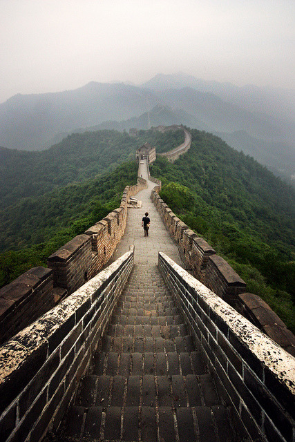 epilepsiecollective:  Great Wall at Dawn _ 2 by SteMurray on Flickr. #GreatWall