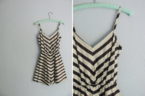 chevron striped sundress at darling vintage