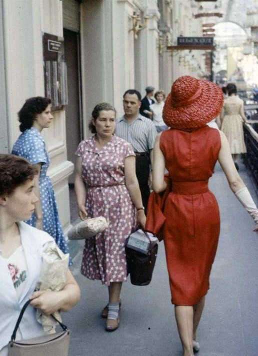 Christian Dior Soviet Fashion Shoot 1950s