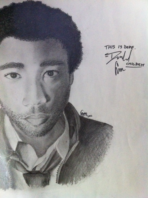 He signed my drawing at the Miami show last week :)