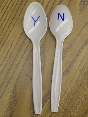 Yes/No spoons! Cheap and easy way to let every student actively participate in a lesson