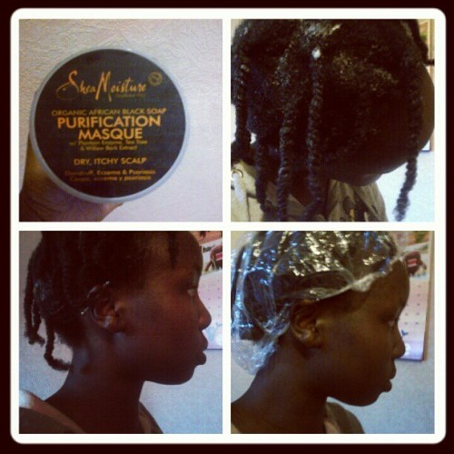#SheaMoisture Purification Masque. Calms my scalp down ;) #Naturalhair #teamnatural (Taken with Instagram)