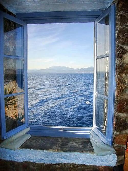 bluepueblo:  Ocean View, Santorini, Greece photo via fem