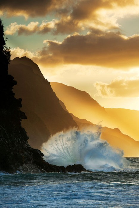 Sunset, Kauai, Hawaii photo via heather