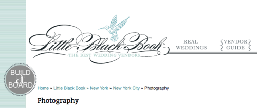 preferred vendor status on Style Me Pretty's Little Black Book!