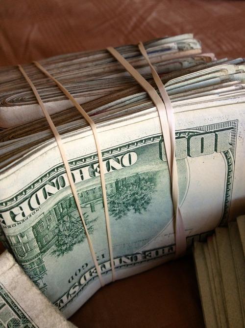Dope Fresh Green Money Cash Rubber Band Cashing Out