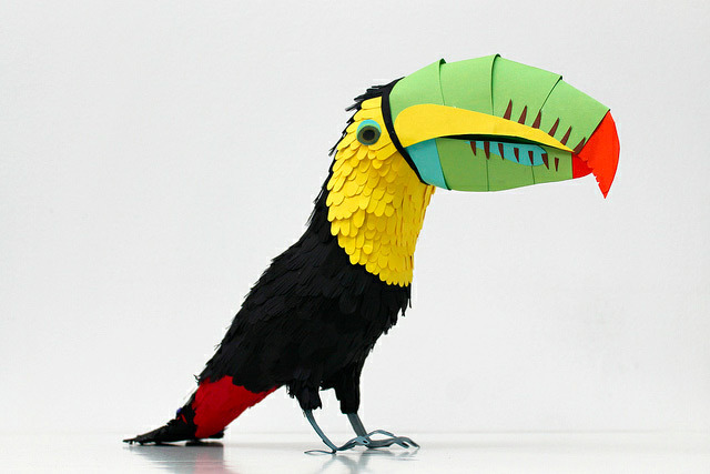 explore-blog:  Striking paper birds and wildlife from artist Diana Beltran Herrera