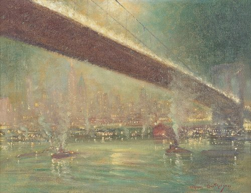 Beneath the 59th Street Bridge by Johann Henrik Carl Berthelsen