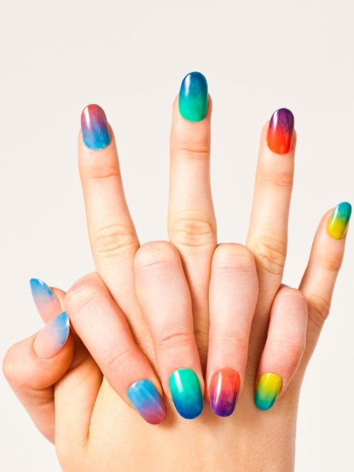 fuckyeahnailart:  nailinghollywood:  Madeline Poole for American Apparel http://store.americanapparel.net/nailpoliss.html?c=Pacific%20Beach  Nail polish designed to be sheer for easy gradients? I'll have to check these out!