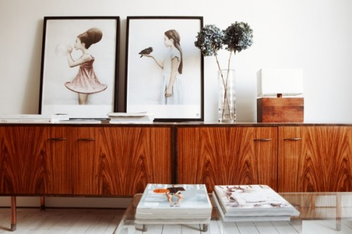 Source: Design Inspiration SK Those sideboards are amazing! and I love the acrylic coffee table in the foreground.