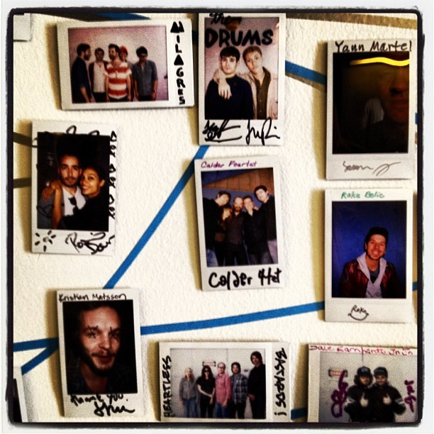 Routine shot of the #Polaroid wall of fame!  (Taken with Instagram at KCRW)