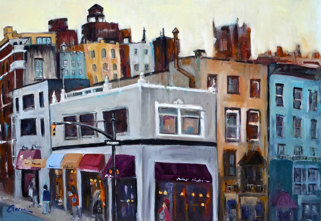 74th and Lex. oil on canvas, 36x50. ©Accorsi Studios