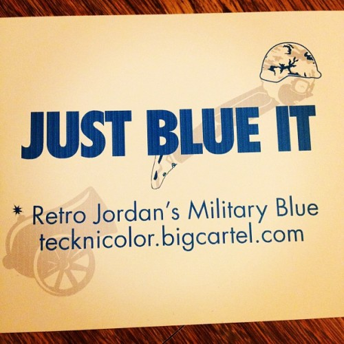 "#jordan military blue 4 ""Just Blue It"" #shirt #tee should be shipping out this week #igsneakercommunity  (Taken with Instagram)"
