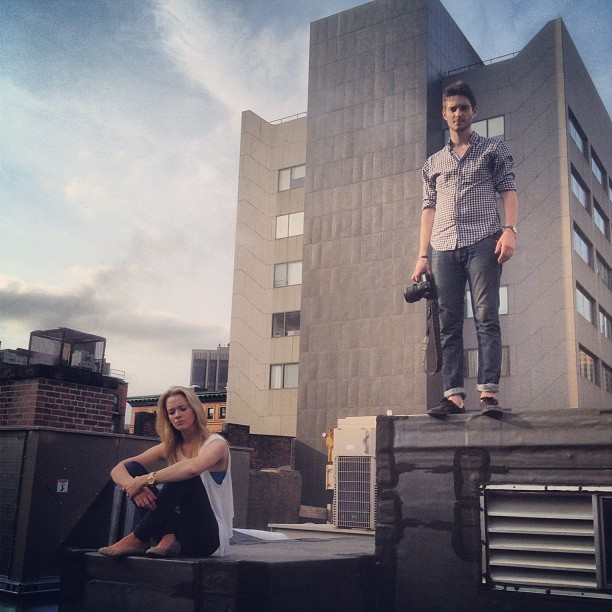 Shooting my first rolls w/ the Mamiya on my roof w/ @carolinerhymer & @mark_loper  (Taken with Instagram at The trap. )