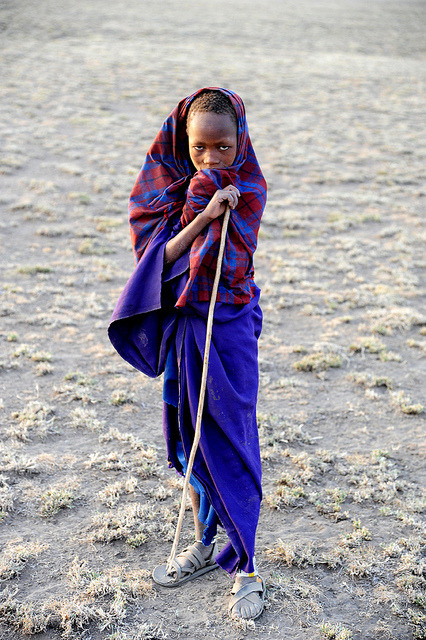 c-u-l-t-u-r-e-s:  Young Masai shepherd - Tanzania by JCH Travel on Flickr.