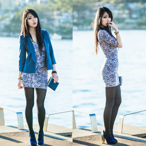 lookbookdotnu:  Snakeskin and glitter (by Isabel Z)
