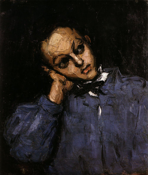 deadpaint:  Paul Cézanne, Young Man Leaning on his Elbow