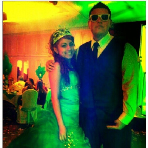 Me and @christyx3123 at her sweet, I look like a boss #swag #party #class  (Taken with Instagram)
