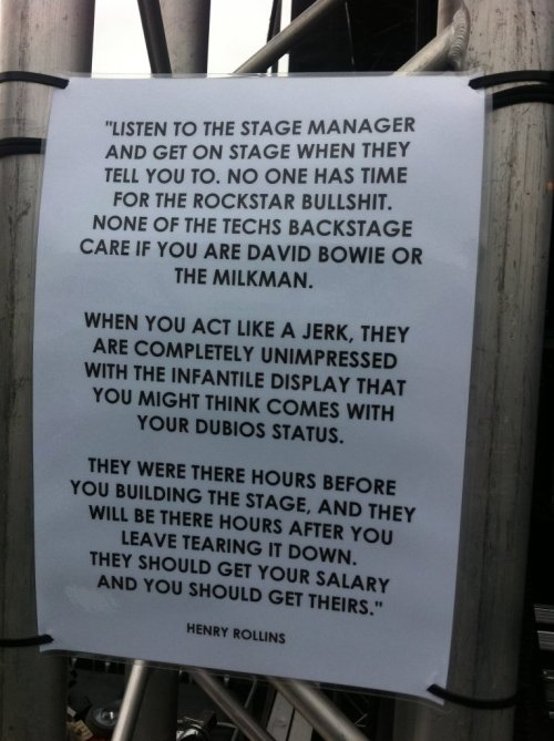 i work as a backstage manager. the truth here is just… awesome.