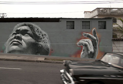 Street Art for the Havana Biennal, Cuba by El Mac