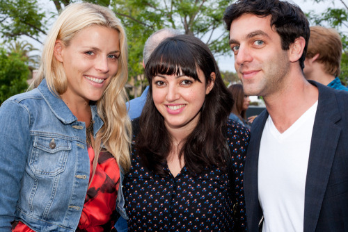 fyeahbjnovak:  Busy Philipps, Sophia Rossi, and B.J. Novak. July 14, 2012. Photo by Fernanda De Sa Schwartz for 826LA.